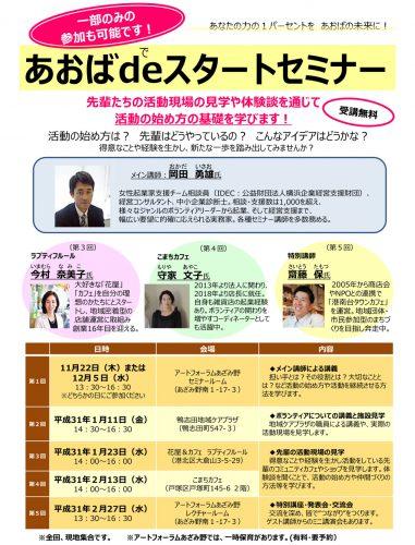 平成30年度あおばdeスタートセミナー 申込受付開始!1