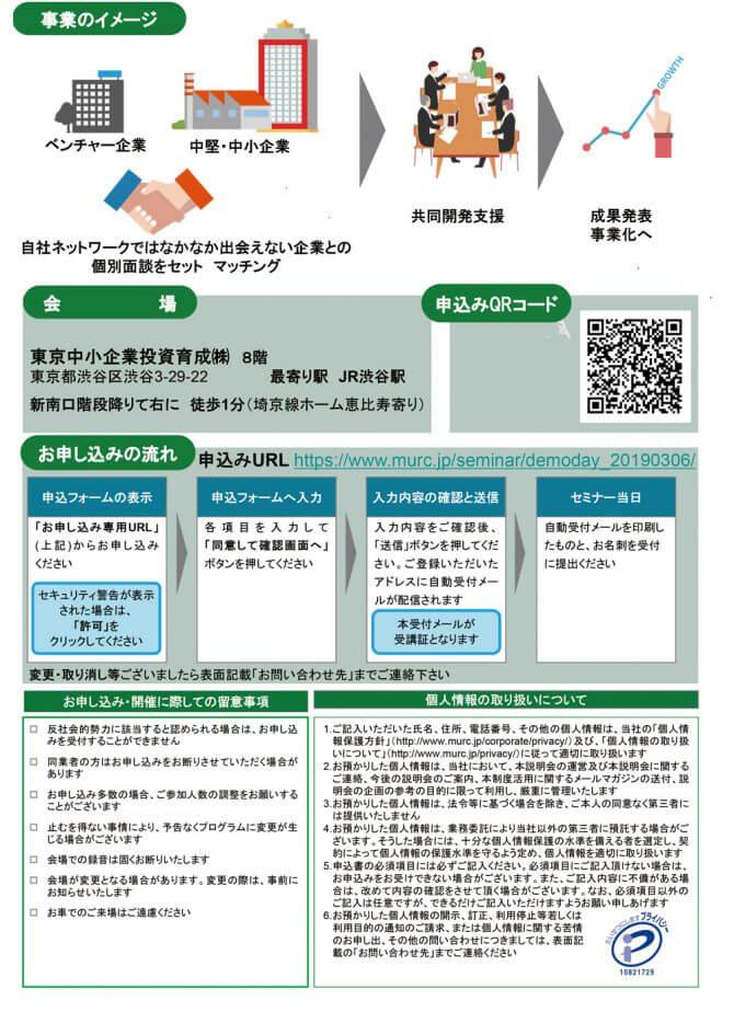 「ベンチャー企業と中堅・中小企業のマッチングによる生産性革新・新事業展開の事業化プロジェクト」Demo Day(成果発表会)