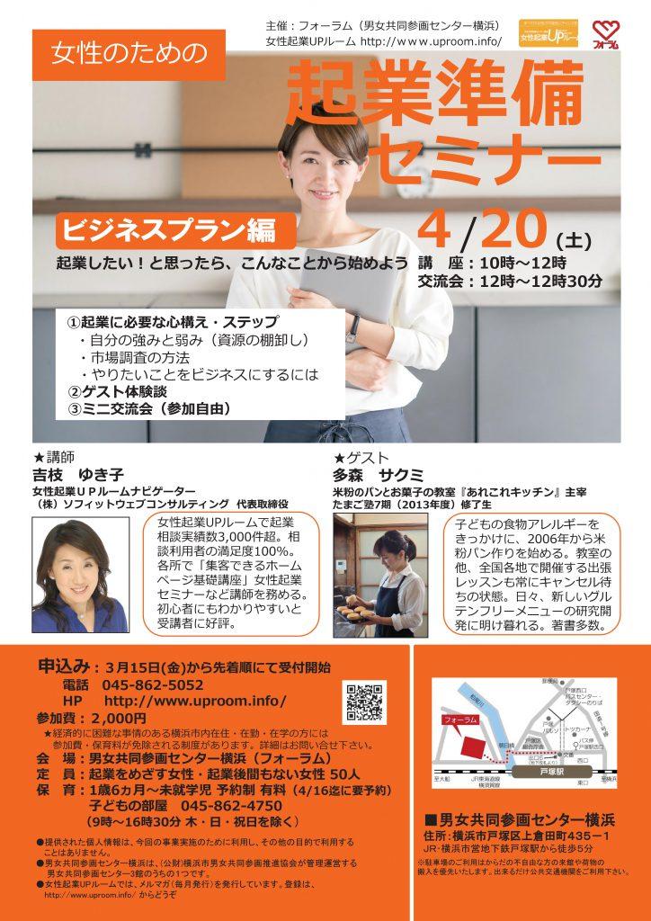 女性のための起業準備セミナー(ビジネスプラン編)