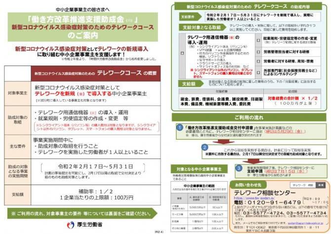 【締切5/29】テレワークの新規導入を支援する助成金の申請受付中【新型コロナウイルス感染症対策のためのテレワークコース】